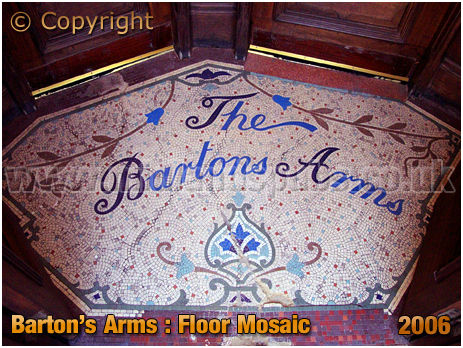 Birmingham : Floor Mosaic of the Barton's Arms at High Street Aston [2003]