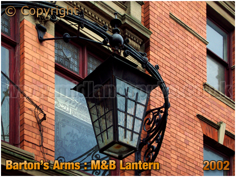 Birmingham : Lantern at the Barton's Arms at High Street Aston [2002]