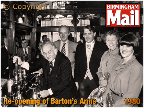 Birmingham : Re-opening of The Barton's Arms [1980]