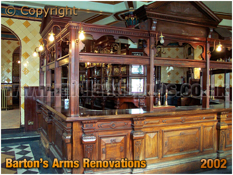 Birmingham : Renovation work to the servery of the Barton's Arms at Aston [2002]