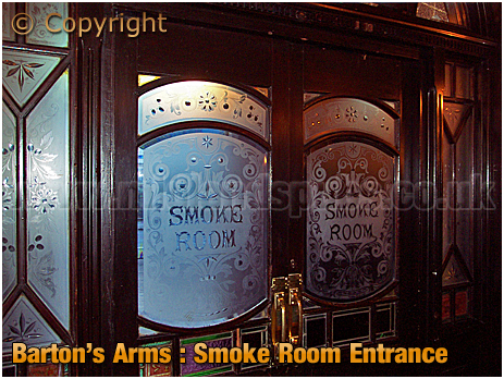 Birmingham : Entrance Doors to Smoke Room of the Barton's Arms at High Street Aston [2006]
