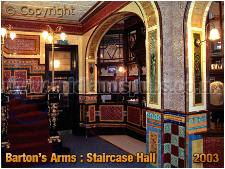 Birmingham : Staircase Hall of the Barton's Arms at High Street Aston [2003]