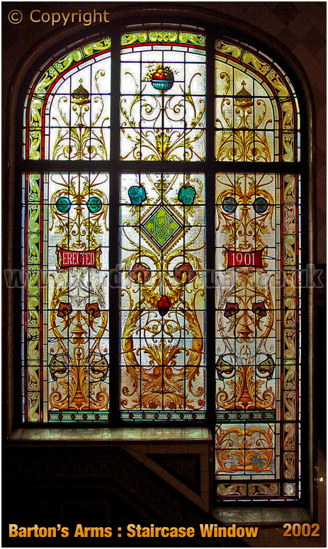 Birmingham : Staircase Window of the Barton's Arms at High Street Aston [2002]
