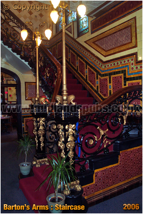Birmingham : Staircase of the Barton's Arms at High Street Aston [2006]