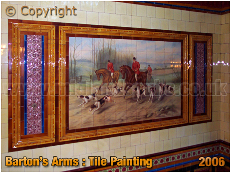 Birmingham : Tile Painting of the Barton's Arms at High Street Aston [2006]