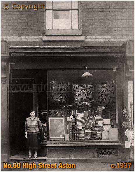 Birmingham : Book and Music Shop of Herman and Emma Edwards at No.60 High Street Aston [c.1937]