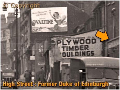 Birmingham : High Street Aston showing part of the former Duke of Edinburgh [1960]