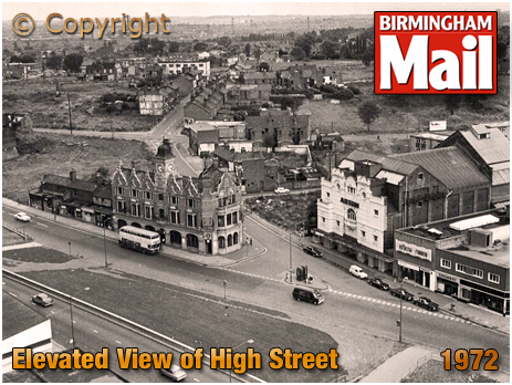 Birmingham : Elevated view of The Barton's Arms and Aston Hippodrome [1972]