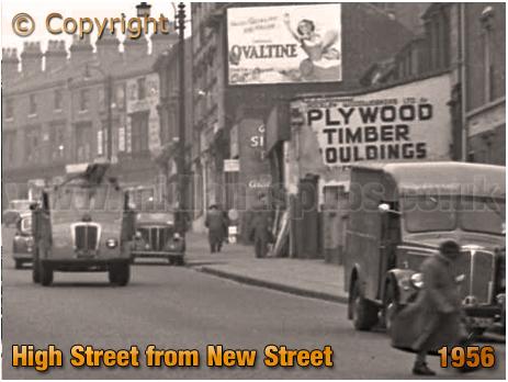 Birmingham : High Street Aston and Burlington Hall from New Street [1956]