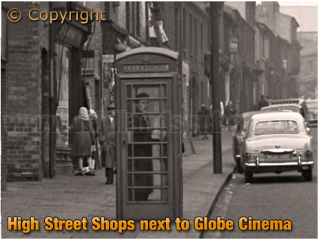 Birmingham : Shops on High Street Aston looking from the Globe Cinema [1960]