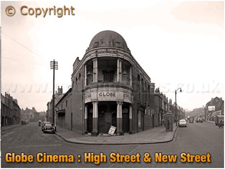 Birmingham : The Globe Cinema on the corner of High Street Aston and New Street [1960]