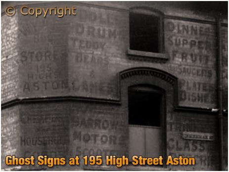 Birmingham : Ghost Signs on the corner of High Street Aston and Inkerman Street