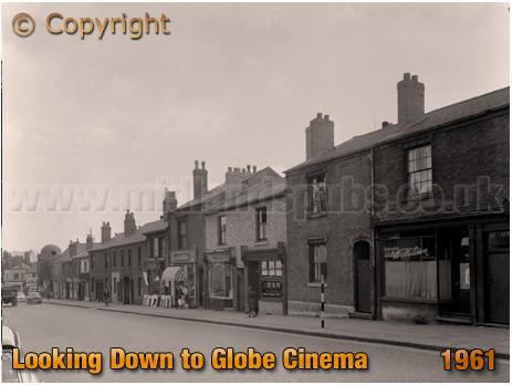 Birmingham : High Street Aston looking towards Globe Cinema [1961]