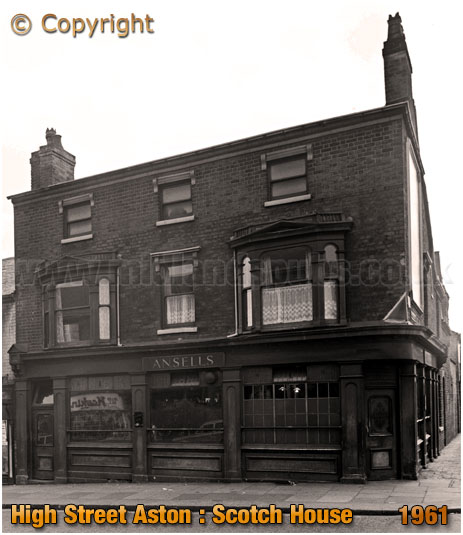 Birmingham : The Scotch House on the corner of Whitehead Street and High Street Aston [1961]