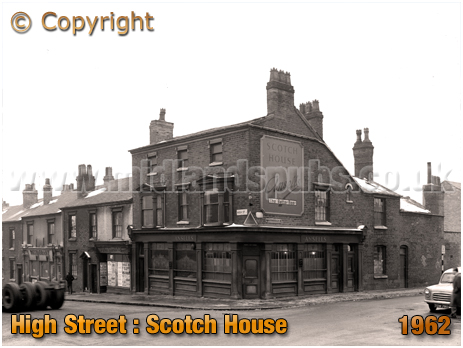 Birmingham : The Scotch House on the corner of Whitehead Street and High Street Aston [1962]