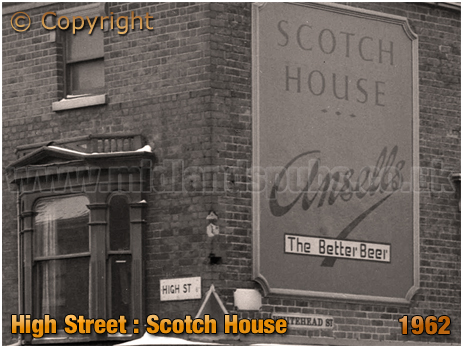 Birmingham : Ansell's Sign at the Scotch House on High Street Aston [1962]