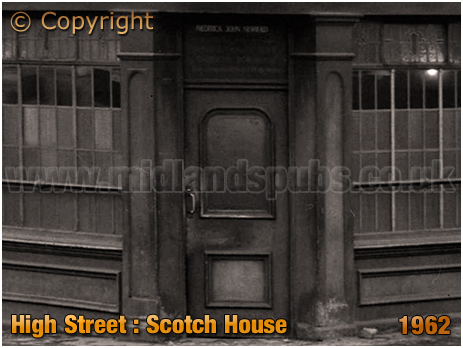 Birmingham : Corner Entrance of the Scotch House on High Street Aston [1962]