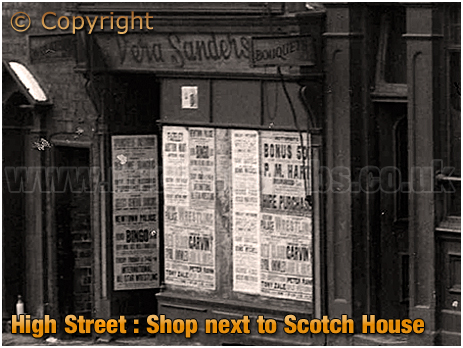 Birmingham : Neighbouring Shop to the Scotch House on High Street Aston [1962]