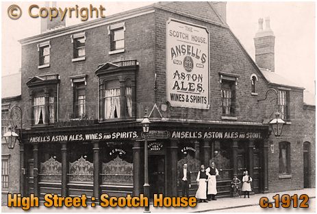 Birmingham : The Scotch House on the corner of Whitehead Street and High Street Aston [c.1912]