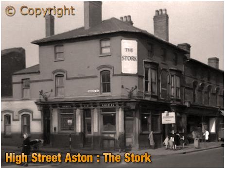 Birmingham : The Stork on the corner of High Street Aston and Asylum Road [c.1960]