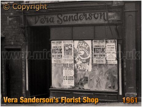 Birmingham : Florist's Shop of Vera Sanderson at No.77 High Street Aston [1961]