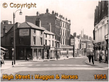 Birmingham : Waggon & Horses on High Street Aston [1954]