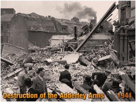 Birmingham : Destruction of the Adderley Arms following bombing at Saltley [1941]