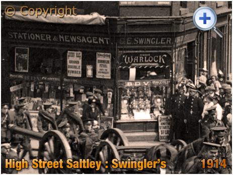 Birmingham : Shop of the Stationer and Newsagent George Edwin Swingler on High Street Saltley [c.1911]