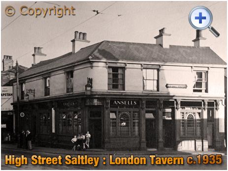 Birmingham : London Tavern on the corner of High Street Saltley and Crawford Street [c.1935]