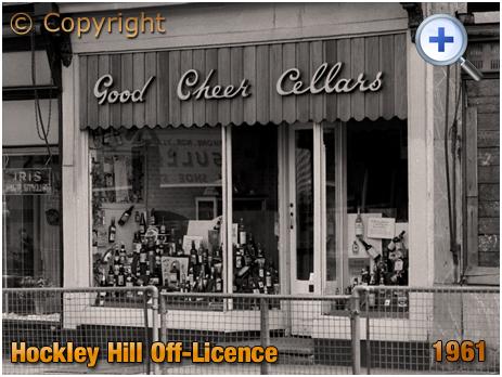 Birmingham : Good Cheers Cellars Off-Licence on Hockley Hill [1961]