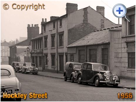Birmingham : Hockley Street from Brearley Street at Hockley [1956]