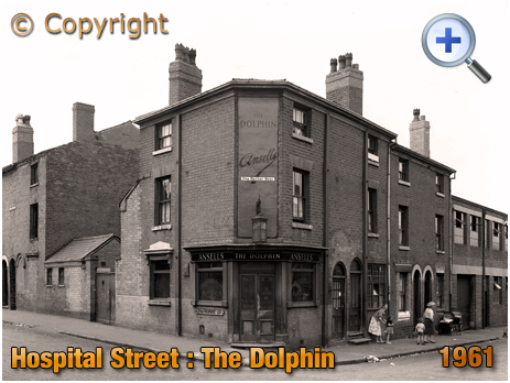Birmingham : The Dolphin on the corner of Hospital Street and Frankfort Street [1961]