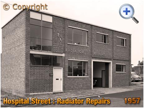 Birmingham : Radiator Repairs Garage on Hospital Street in Aston Newtown [1957]