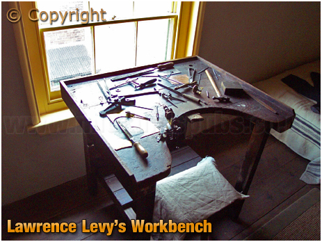 Birmingham : Lawrence Levy's Workbench in Hurst Street's Back-to-Back Housing Museum [2005]