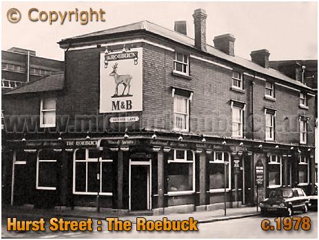Birmingham : The Roebuck on the corner of Hurst Street and Skinner Lane [c.1978]