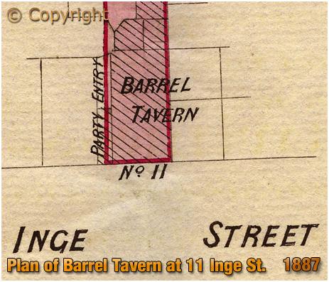 Birmingham : Plan of Barrel Tavern in Inge Street [1887]
