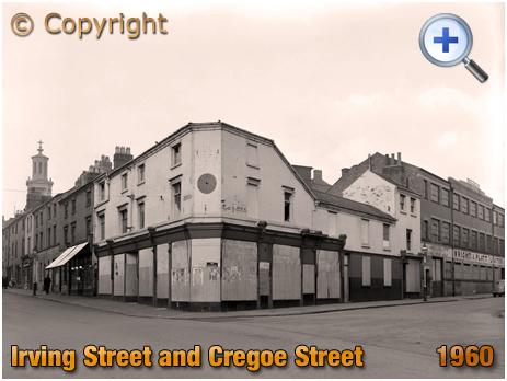 Birmingham : Corner of Irving Street and Cregoe Street at Lee Bank [1960]