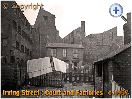 Birmingham : Court and Factories in Irving Street at Lee Bank [c.1957]