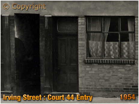 Birmingham : Entry to Court 44 next to The Dolphin on Irving Street at Lee Bank [1954]