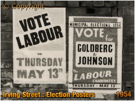 Birmingham : Election Posters The Dolphin on Irving Street at Lee Bank [1954]