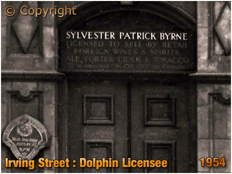 Birmingham : Licensee Plate of The Dolphin on Irving Street at Lee Bank [1954]
