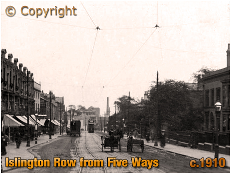 Birmingham : Looking down Islington Row from Five Ways at Edgbaston [c.1910]
