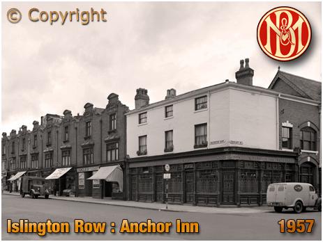 Birmingham : The Anchor Inn on the corner of Islington Row and Tennant Street at Edgbaston [1957]