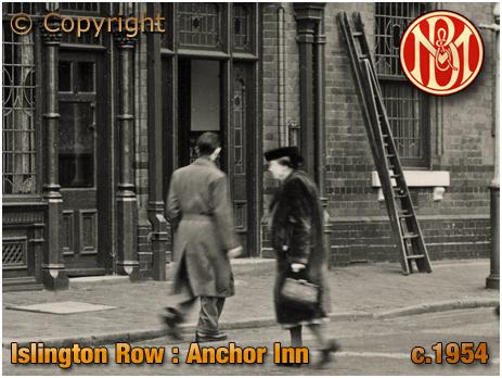 Birmingham : Side Entrance of the Anchor Inn on the corner of Islington Row and Tennant Street at Edgbaston [c.1954]