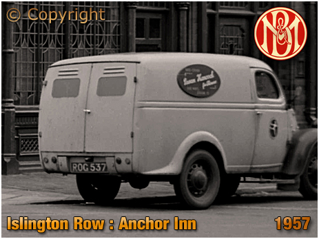 Birmingham : Van parked outside the Anchor Inn on the corner of Islington Row and Tennant Street at Edgbaston [c.1954]