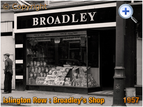 Birmingham : Broadley's Tobacconist and Newspaper Shop on Islington Row near Five Ways at Edgbaston [1957]