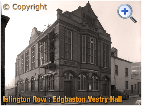 Birmingham : Edgbaston Vestry Hall and Rate Office on Islington Row [1956];