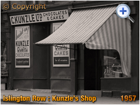 Birmingham : Kunzle's Cake and Chocolate Shop on Islington Row near Five Ways at Edgbaston [1957]