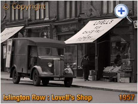 Birmingham : Lovell's Fruit and Flower Shop on Islington Row near Five Ways at Edgbaston [1957]