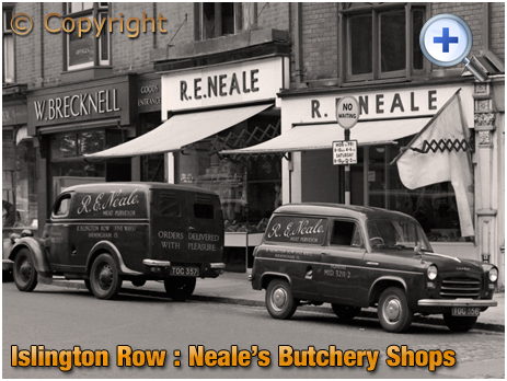 Birmingham : Reginald Neale's Butchery Shops on Islington Row near Five Ways at Edgbaston [1957]